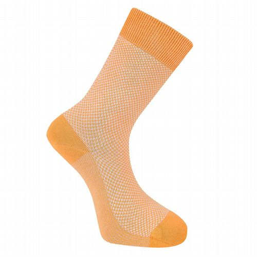 Men's Cotton Socks  - Dot Sock - Apricot